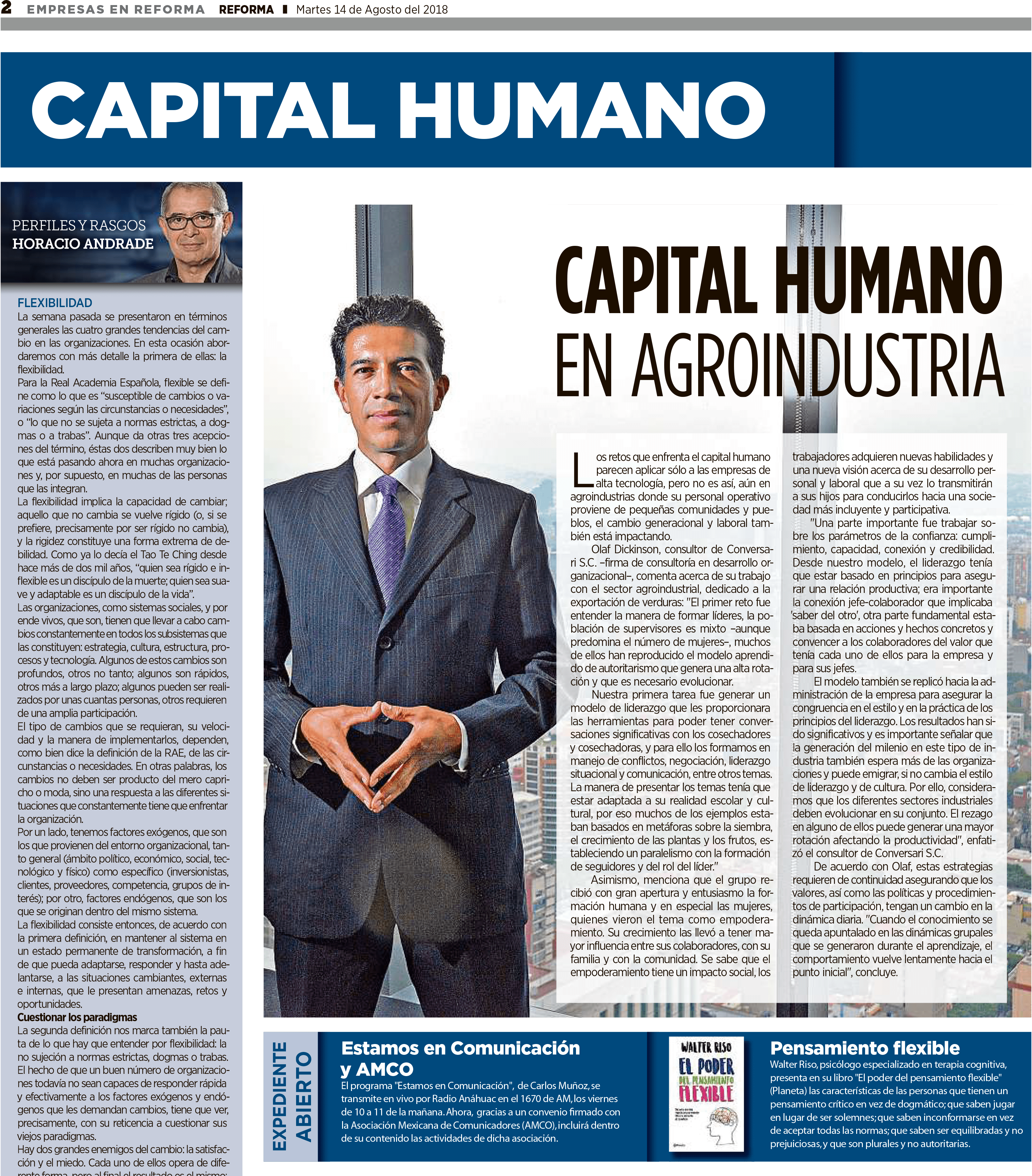 Human Capital in Agricultural Industry